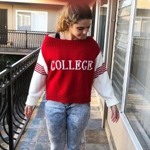 Fantastic New Judith March Red College Sweater